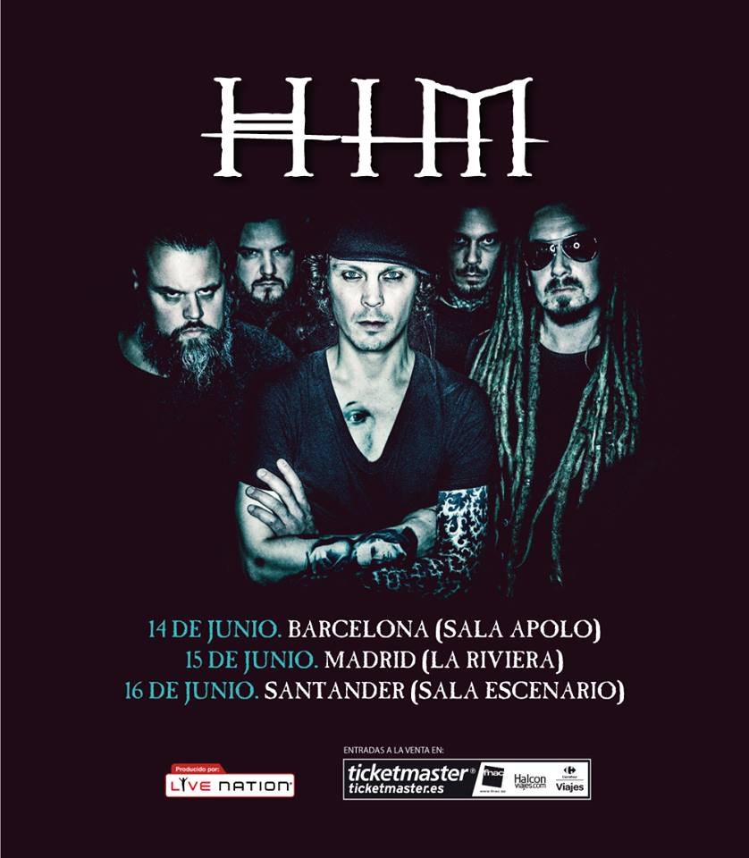 Conciertos de HIM en Madrid, Barcelona y Santander
